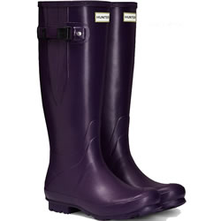 Small Image of Womens Hunter Norris Field Adjustable Boots - Dark Iris UK 6