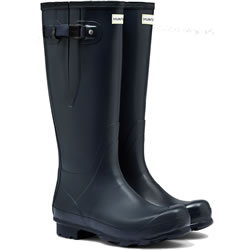 Small Image of Mens Hunter Norris Field Adjustable Wellington Boots - Navy UK 8