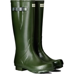 Small Image of Mens Hunter Norris Field Adjustable Wellington Boots - Vintage Green UK 8