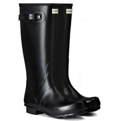 Small Image of Womens Hunter Norris Field Wellington Boots - Black UK 9