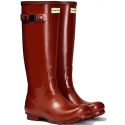 Small Image of Womens Hunter Norris Field Wellington Boots - Burnt Sienna UK 7