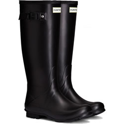 Small Image of Womens Hunter Norris Field Neoprene Wellington Boots - Black UK 8