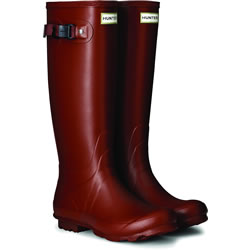 Small Image of Womens Hunter Norris Field Neoprene Wellington Boots -Burnt Sienna UK 6