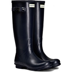 Small Image of Womens Hunter Norris Field Neoprene Wellington Boots - Navy UK 6