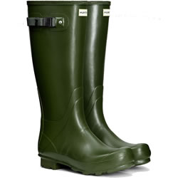 Small Image of Womens Hunter Norris Field Wellington Boots - Vintage Green UK 4