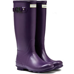 Small Image of Hunter Norris Field Neoprene Wellington Boots - Dark Iris UK 7
