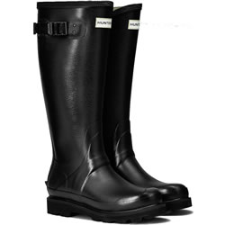 Small Image of Womens Hunter Field Balmoral Wellington Boots - Black UK 7