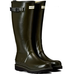 Small Image of Womens Hunter Balmoral Wellington Boots - Dark Olive UK 6