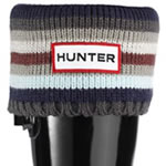Small Image of Kids Hunter Welly Socks - Striped Blues - XS