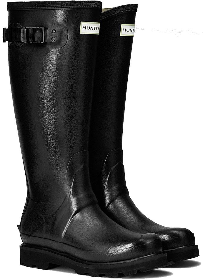 Womens Hunter Field Balmoral Wellington Boots Black 163