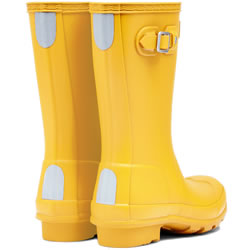 Extra image of Kids Original Hunter Wellies - Yellow UK 11