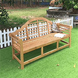 Small Image of Oak Luchens Garden Bench - 3 Seater