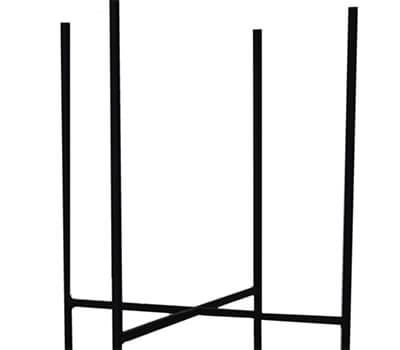 Image of Ivyline Luso Plant Stand in Black, 33cm