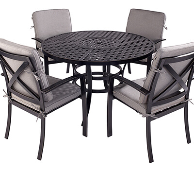 Image of Jamie Oliver Contemporary 4 Seater Grilling Set - Riven/Pewter