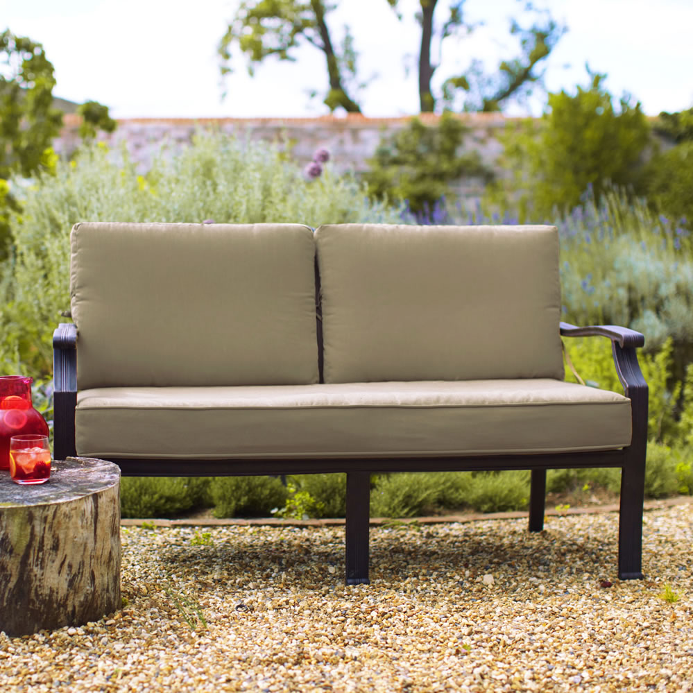 2018 jamie oliver classic 2 seater sofa bench bronze biscuit garden4less uk shop. Black Bedroom Furniture Sets. Home Design Ideas