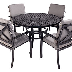 Small Image of Jamie Oliver Contemporary 4 Seater Grilling Set - Riven/Pewter
