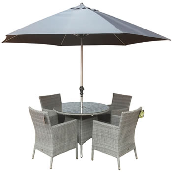 Image of Chatsworth 4 Seater 1m Round Dining Set by Katie Blake