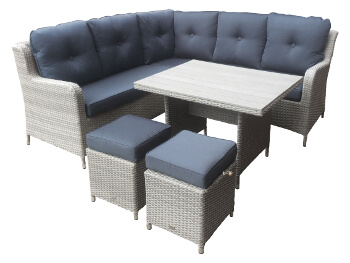 Image of Chatsworth Compact Corner Casual Dining Set by Katie Blake