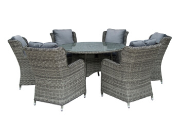 Image of Seville 6 Seater 1.4m Round Garden Furniture Set by Katie Blake