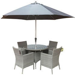 Small Image of Chatsworth 4 Seater 1m Round Dining Set by Katie Blake