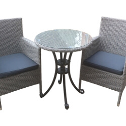 Small Image of Chatsworth 60cm Round Bistro Dining Set by Katie Blake