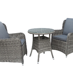 Small Image of Seville 70cm Round Bistro Dining Set by Katie Blake