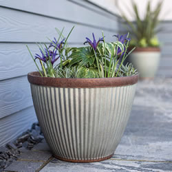 Small Image of Kelkay Plant Avenue Urban Collection Irondale Bowl in Silver