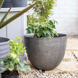 Small Image of Kelkay Plant Avenue Urban Collection Large Elements Pot Gun Metal Grey