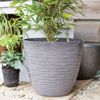 Image of Kelkay Plant Avenue Contemporary Collection Lg Windermere Pot in Grey