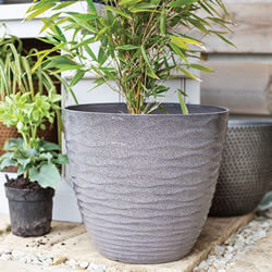 Small Image of Kelkay Plant Avenue Contemporary Collection Lg Windermere Pot in Grey