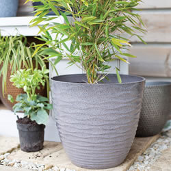 Extra image of Kelkay Plant Avenue Contemporary Collection Lg Windermere Pot in Grey