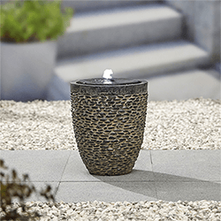Small Image of Kelkay Cobble Stone Water Feature with LEDs