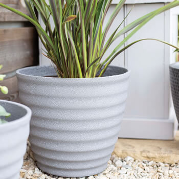 Image of Kelkay Plant Avenue Stone Collection Small Hudson Pot in Grey