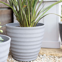 Small Image of Kelkay Plant Avenue Stone Collection Small Hudson Pot in Grey