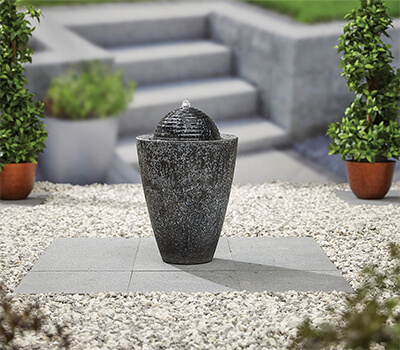 Image of Kelkay Modern Collection Dappled Column Water Feature