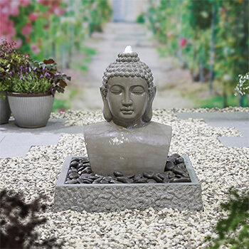 Image of Kelkay Distinctive Collection Lotus Buddha Water Feature