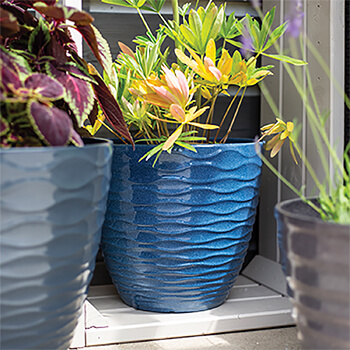 Image of Kelkay Plant Avenue Contemporary Collection Sm Windermere Pot in Blue