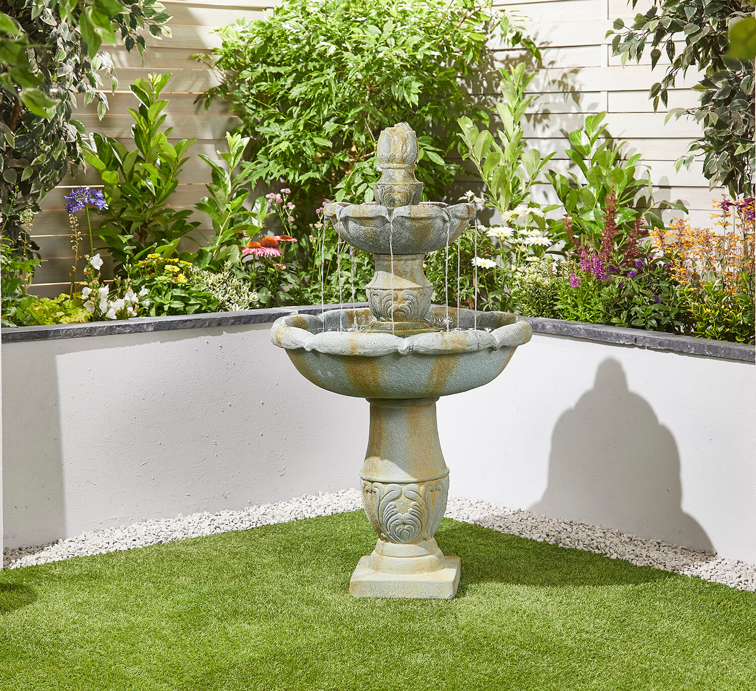 Simple Water Features For The Garden: Classical Springs Easy Fountain Garden Water Feature