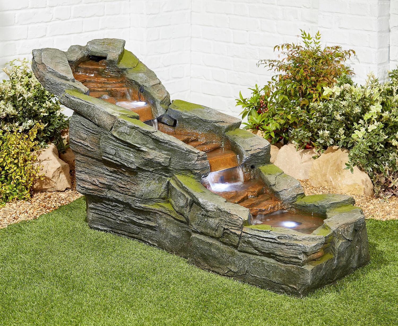Simmering Falls Easy Fountain Garden Water Feature - £599 ...
