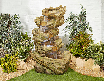 Image of Hickory Falls Easy Fountain Garden Water Feature