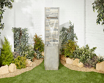 Image of Mosaic Waterfall Easy Fountain Garden Water Feature