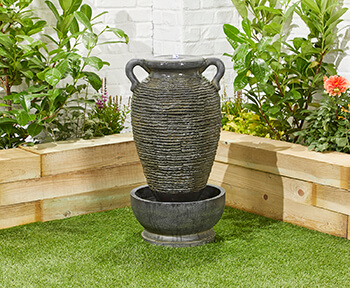 Image of Rippling Vase Easy Fountain Garden Water Feature