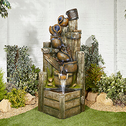 Small Image of Aztec Spilling Bowls Easy Fountain Garden Water Feature