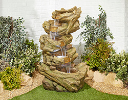 Small Image of Hickory Falls Easy Fountain Garden Water Feature