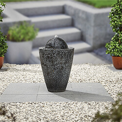 Small Image of Kelkay Modern Collection Dappled Column Water Feature