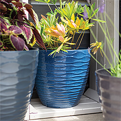 Small Image of Kelkay Plant Avenue Contemporary Collection Sm Windermere Pot in Blue
