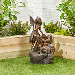 Small Image of Pixie Spills Easy Fountain Garden Water Feature