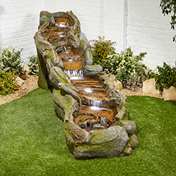 Small Image of Rapid Waters Easy Fountain Garden Water Feature