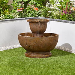 Small Image of Tuscan Pour Easy Fountain Garden Water Feature