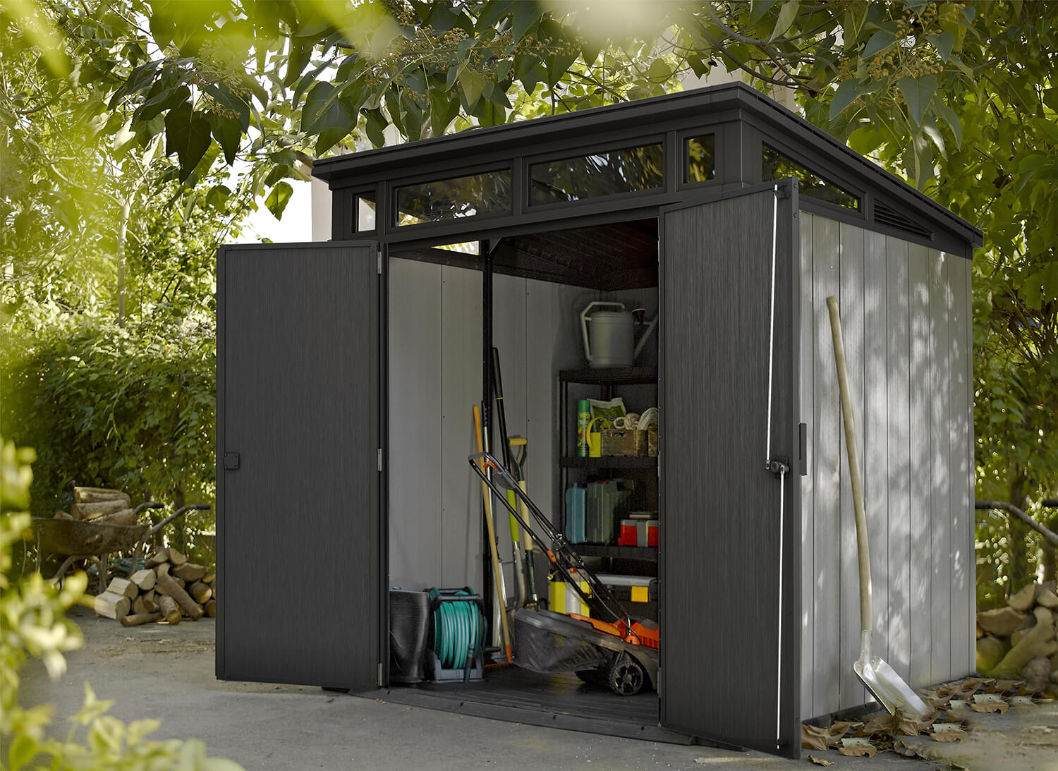Keter Artisan 7x7 Pent Shed In Brownish Grey 163 999